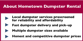 About Hometown Dumpster Rental Lombard